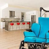 Vakuform Seating on Wheelchair in Family Home