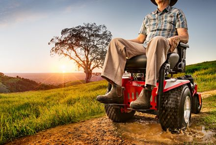 Atom Off Road Motorised Wheelchair Advertisment