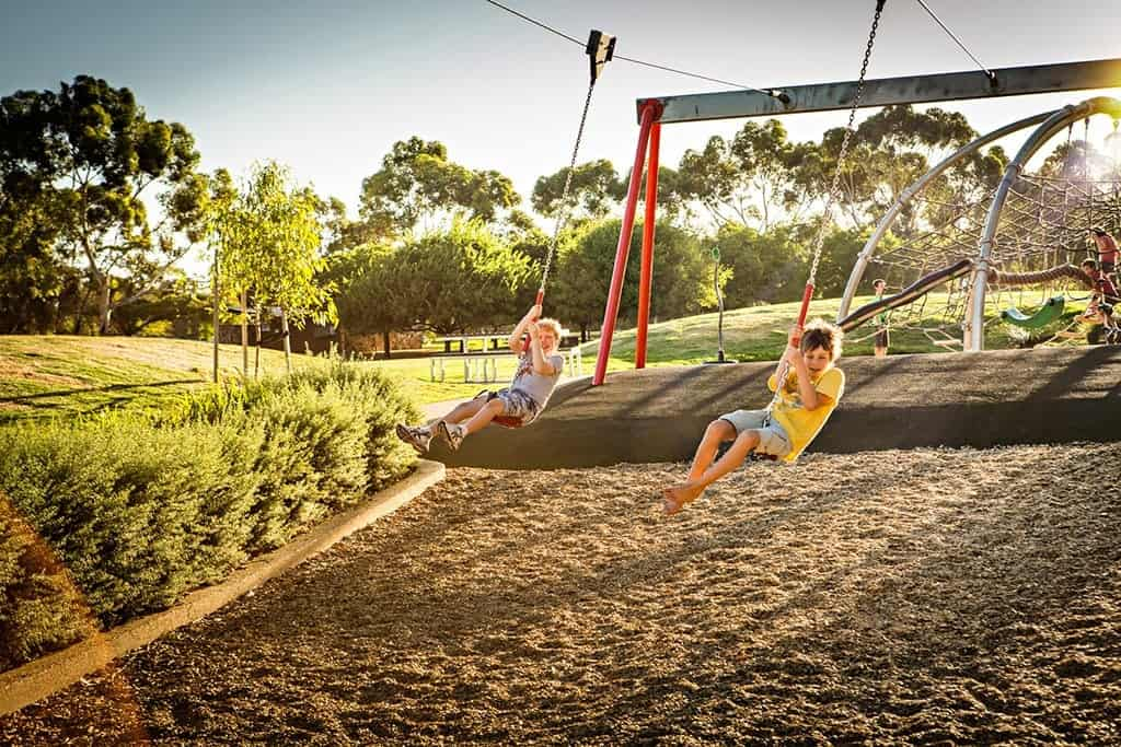 Bonython Park Adelaide Playground Dual Flying Fox