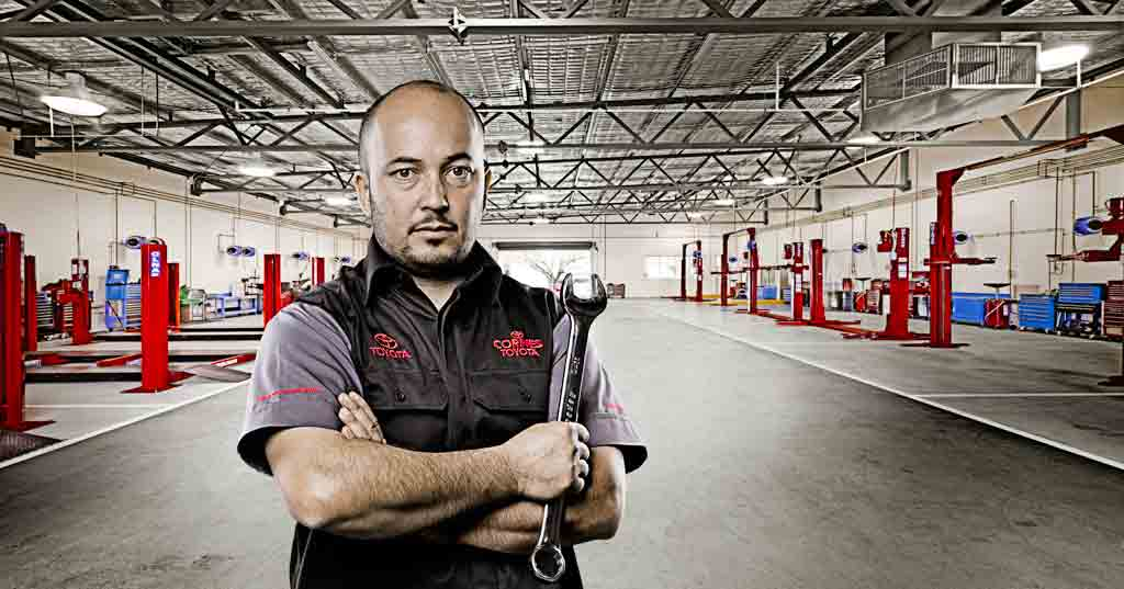 Cornes Toyota Service Mechanic Corporate Portrait