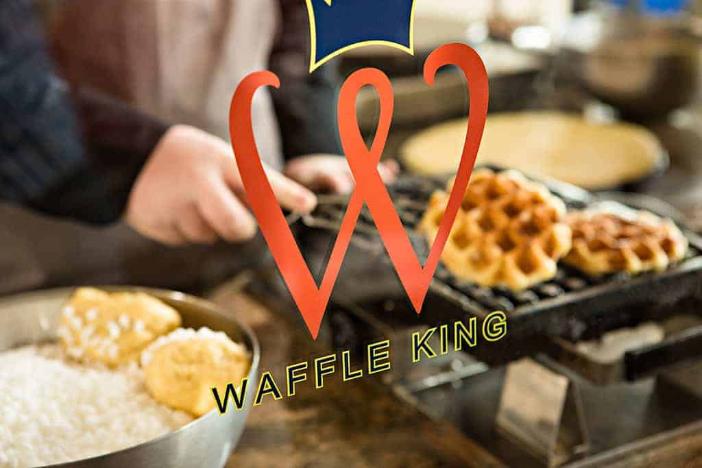 Waffle King South Australia Logo on Front Counter