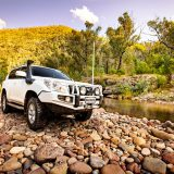 Cornes Toyota Prado on River Bank