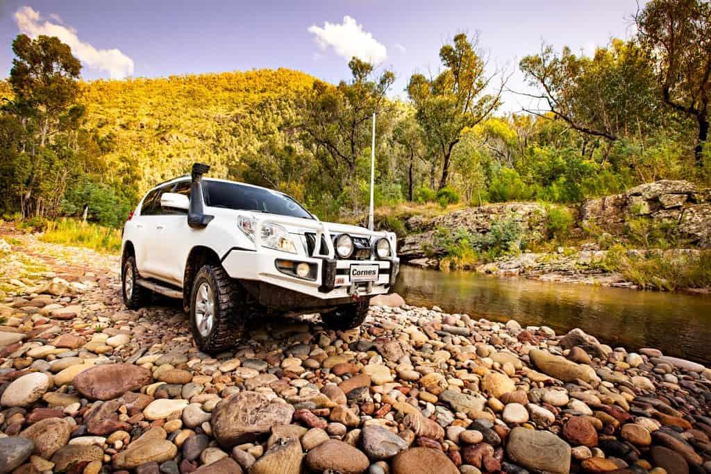 Cornes Toyota Prado on River Bank