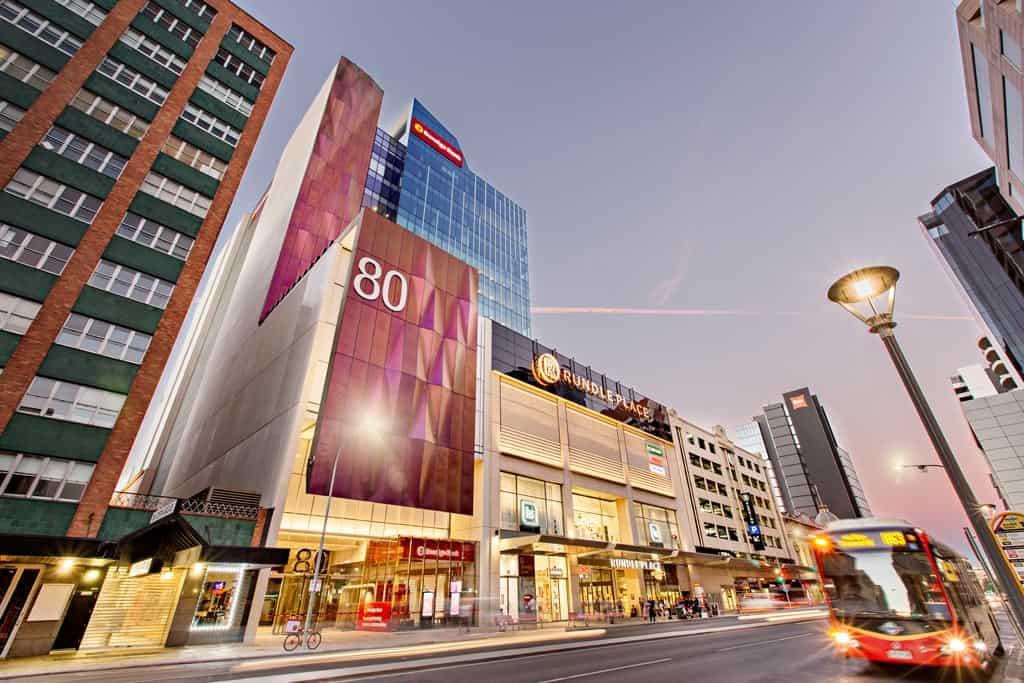 Bendigo Bank 80 Grenfell Street Adelaide Dusk