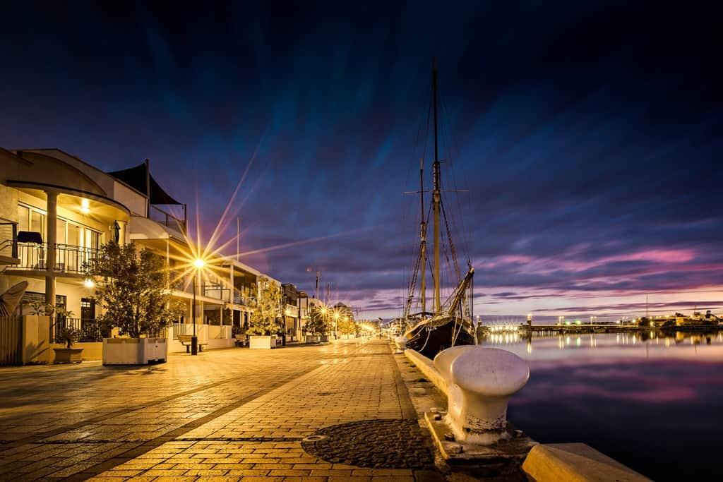 Renewal SA Port Adelaide Wharf Dusk