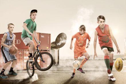 Kids Loving Sports
