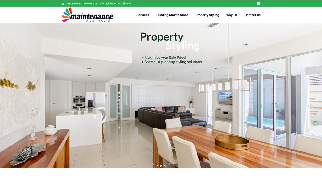Maintenance Australia Property Styling Commercial Photographer Adelaide