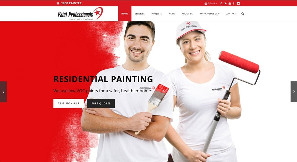Paint Professionals Advertising Photography Adelaide