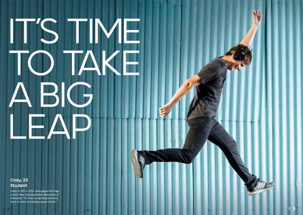 SYC Big Leap Advertising Photographer Adelaide