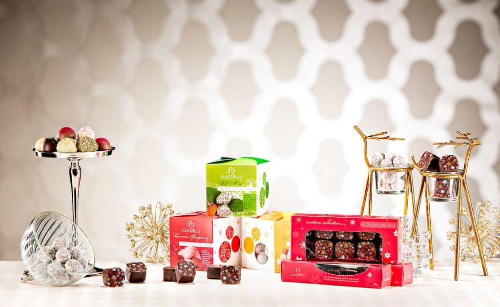 Just Bliss Chocolates Christmas Advertising Photography