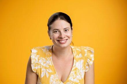 Casual Portrait Orange Background Adelaide Photographer