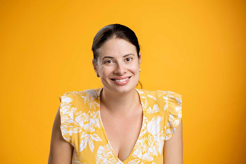 Casual Portrait Orange Background Adelaide Photographer